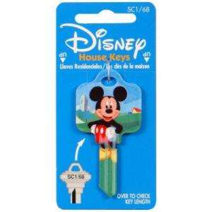 Hillman #68 Disney Mickey Mouse House Key 94436