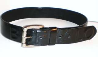BUFFALO DAVID BITTON MENS LEATHER JEANS BELT BLACK SIZE 32 36 38 $48