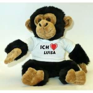 Affe / Schimpanse mit Ich Liebe Luisa T Shirt  Spielzeug