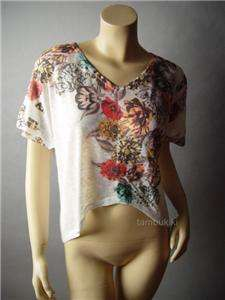 ROMEO & JULIET COUTURE Floral Print Tail Top Shirt S
