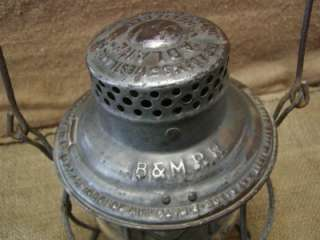 Vintage Boston Maine Railroad Lantern  Antique Old B&M