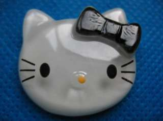 Sale* 10 Large Resin Hello Kitty Buttons Flatback Black Bow K018
