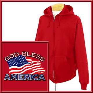 God Bless America US Flag Patriot Zip Up Hoodie,Sweatshirt S,M,L,XL,2X