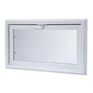 Hopper Window, 32 in. x 16 in., White with Dual Pane Insulated Glass