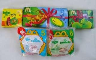 Mcdonalds Disney Hercules Dinosaur Bugs life 1996 2000 Toys NIP