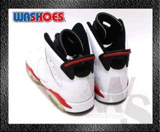 Nike Air Jordan 6 VI Retro GS White Varsity Red Black Noir US 5Y~7Y