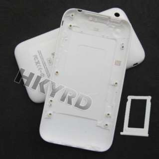 White Back Housing Cover Case For iPhone 3G 8GB/16GB