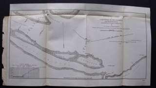 1890 ANTIQUE MAP SURVEY SAVANNAH RIVER, TURTLE ISLAND,TIDE GAUGES