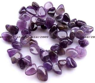 Baroque 10 12mm Natural Amethyst Flat Beads 15 high quality gemstone