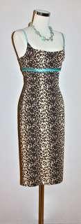 MARIA BIANCA NERO Leopard Print Wiggle Bandage Dress