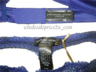 VICTORIAS SECRET PLEASURE STATE BLING BRA & THONG NWT S/M