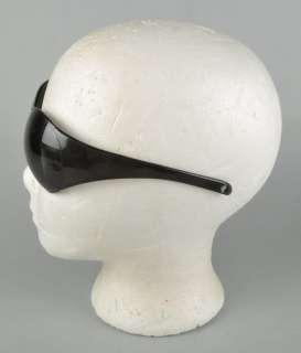 Vtg 60s MOD Space Age BREVETE one piece black plastic Bug Eye Shield