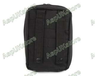Airsoft Molle Medical First Aid Pouch Bag Black AG