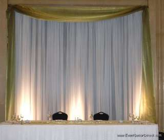 Wedding Backdrop Kit w/Pipe, Drape and Valence: 1 PANEL 6 10ft