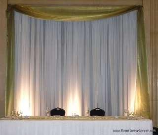 Wedding Backdrop Kit w/Pipe, Drape and Valence: 1 PANEL 6 10ft