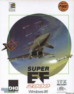 Super EF 2000 PC CD combat simulation game + add on BOX
