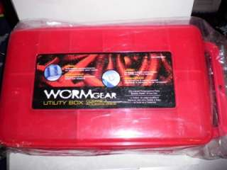 WORM GEAR DOUBLE SIDED TACKLE BOX WITH CARRY HANDLE!!!