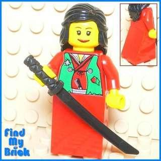 C732 Lego Ninja Girl Minifig Skirt with Green Vest NEW