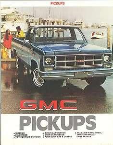 1977 GMC Pickup Truck Brochure Sierra C1500/C2500/C3500