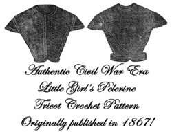 Civil War Victorian Pelerine Tricot Crochet Pattern1867