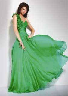Green Long Formal dresses Evening Gowns Bridesmaid Party Prom Dress