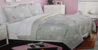 CYNTHIA ROWLEY Floral Birds Comforter Sheets Gray Purple Yellow 6PC