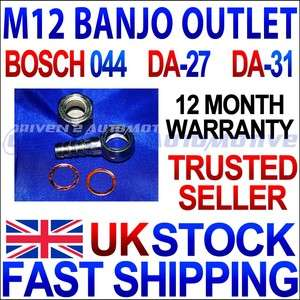 Bosch 044 Fuel Pump Banjo Fitting Kit Hose Adaptor
