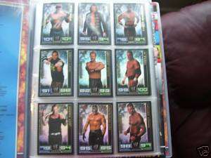 SLAM ATTAX FULL SET 172 CARDS CHAMPION TITLE LTD EDTION