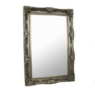 Large French Ornate 6ft Silver Wall Full Length Mirror