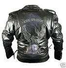 Biker Motorrad Rocker Lederjacke Jacke PROTEKTOREN XXL