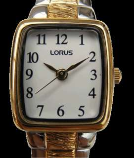 V811 X059 Lorus Ladies Gold Plated Expanding Bracelet Watch RPH58AX9