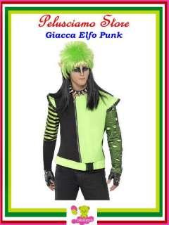 Costume Halloween Carnevale Giacca Elfo Punk tg M # 5404 Halloween
