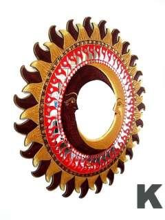 Specchio Parete Cornice in Legno Sole Luna 100 cm Nuovo