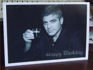 George Clooney Personalised Birthday / Greetings / Christmas / Get