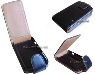 LEATHER FLIP CASE COVER FOR HTC WILDFIRE MOBILE PHONE