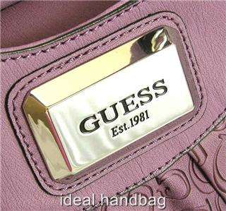 NEW NWT GUESS GRIFFIN PURPLE BAG PURSE TOTE