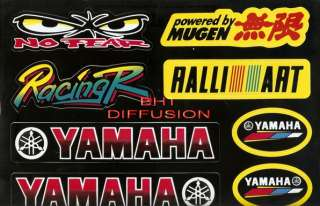 8 Autocollants STICKERS MOTO TUNING YAMAHA RACING