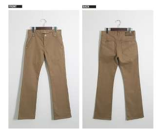 Bros Mens LuxuryBoot Cut Cotton Chino Pants Camel, 010