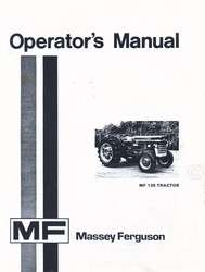 Massey Ferguson MF 135 Tractor Owners Operators Manual