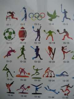 OLYMPICS 2012 AIRBRUSHING STENCIL BOOK 15 AIRBRUSH TEMPORARY TATTOO