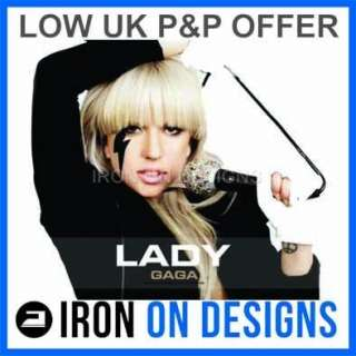 Iron On T shirt Concert Transfer Lady Gaga   7 Designs |