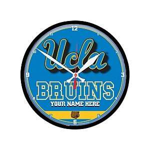 UCLA Bruins Personalized Round Clock Sports & Outdoors