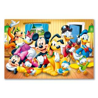A1+ maxi satin poster DISNEY GROUP CHARACTERS MICKEY MINNIE MOUSE
