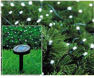 NEW 50 SOLAR FAIRY WHITE LED GARDEN LIGHTS XMAS / PARTY