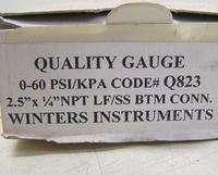 New WINTERS Liquid Filled Pressure Gauge Range 0 60 psi