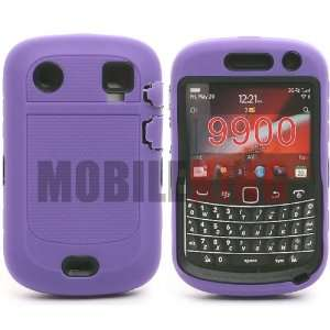 MOBILE KING) Dual Ultra Rugged Protector Case Purple Silicone Cover