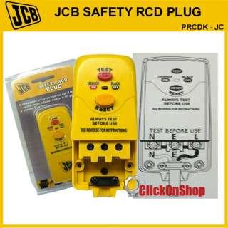 JCB Safety RCD Plug Heavy Duty / Power Tools DIY Garden