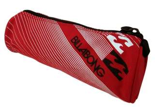 Mens BILLABONG Soorts Travel Wash Bag Red   Boys or Girls Pencil Case