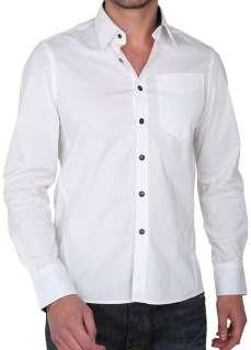 Mens G STAR RAW CL Midnight Engineered Long Sleeve Shirt White
