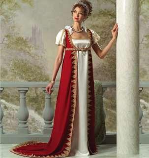B 4890 Patron couture Robe Joséphine époque Napoléon